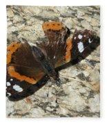 Battered Butterfly Fleece Blanket