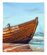 Battered By The Sea Fleece Blanket