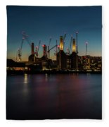 Battersea Power Station On The Thames, London Fleece Blanket