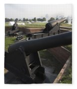 Battery Of Cannons At Fort Mchenry Fleece Blanket