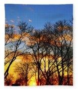 Battery Park Sunset Fleece Blanket