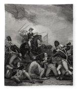 Battle At Princeton New Jersey Usa 1775 Fleece Blanket