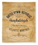 Battle Hymn Of The Republic Fleece Blanket