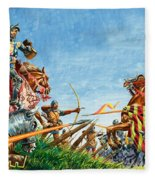 Battle Of Agincourt Fleece Blanket