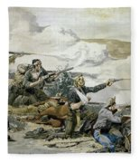 Battle Of Beecher's Island Fleece Blanket