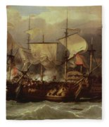 Battle Of Cape St Vincent Fleece Blanket