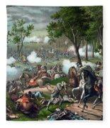 Battle Of Chancellorsville - Death Of Stonewall Fleece Blanket