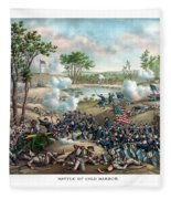 Battle Of Cold Harbor Fleece Blanket