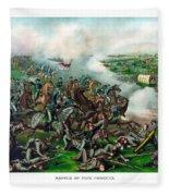 Battle Of Five Forks Fleece Blanket
