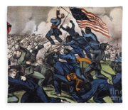 Battle Of Fort Wagner, 1863 Fleece Blanket