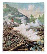 Battle Of Kenesaw Mountain Georgia 27th June 1864 Fleece Blanket