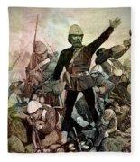 Battle Of Majuba Mountain  Fleece Blanket