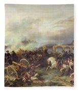 Battle Of Montereau Fleece Blanket