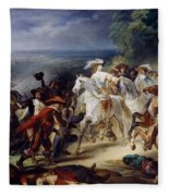 Battle Of Rocroy Fleece Blanket