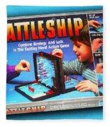 Battleship Board Game Painting  Fleece Blanket