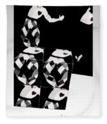 Bauhaus Ballet 2 The Cubist Harlequin Fleece Blanket