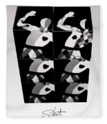 Bauhaus Ballet Six Fleece Blanket