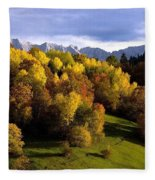 Bavarian Alps 2 Fleece Blanket