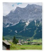 Bavarian Alps Landscape Fleece Blanket