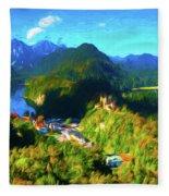 Bavarian Countryside Fleece Blanket
