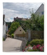 Bavarian Village With Castle  View Fleece Blanket