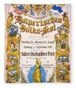 Bavarian Volksfest New York Vintage Poster 1897 Fleece Blanket