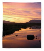 Baxter State Park At Sunset Fleece Blanket