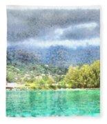 Bay And Greenery Fleece Blanket