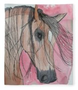 Bay Horse Watercolor Fleece Blanket