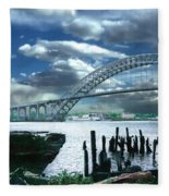 Bayonne Bridge Fleece Blanket