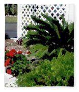 Bayshore Garden Fleece Blanket