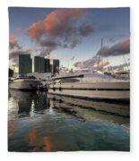 Bayside Sunset Fleece Blanket