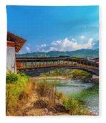 Bazam Bridge Fleece Blanket