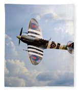 Bbmf Spitfire Ab910 Fleece Blanket
