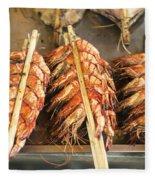 Bbq Fresh Grilled Prawns In Kep Market Cambodia Fleece Blanket