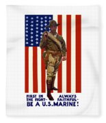 Be A Us Marine Fleece Blanket