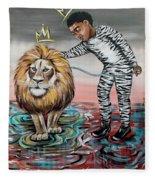 Be Courageous My Son Fleece Blanket