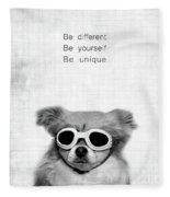 Be Different Be Yoursef Be Unique Fleece Blanket