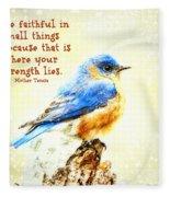 Be Faithful In Small Things Fleece Blanket