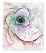 Be Strong Little Flower Fleece Blanket