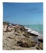 Beach And Rocks Fleece Blanket