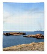 Beach And Rocky Shoreline Fleece Blanket