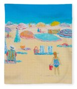 Beach Art - Every Summer Has A Story Fleece Blanket