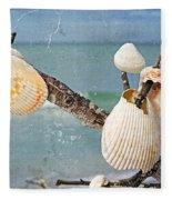 Beach Art - Seashell Shrine - Sharon Cummings Fleece Blanket