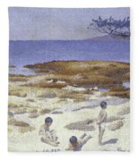 Beach At Cabasson Fleece Blanket