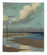 Beach At Low Tide Fleece Blanket