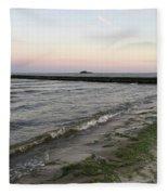 Beach At Sunset Fleece Blanket