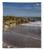 Beach At Tybee Fleece Blanket