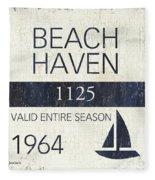Beach Badge Beach Haven Fleece Blanket