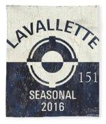 Beach Badge Lavalette Fleece Blanket